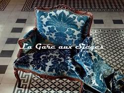 Tissu Tassinari & Châtel - Mansart Bleu - Voir en grand