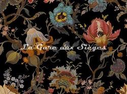 Tissu House of Hackney - Artemis lin/viscose - Coloris: Black - Voir en grand