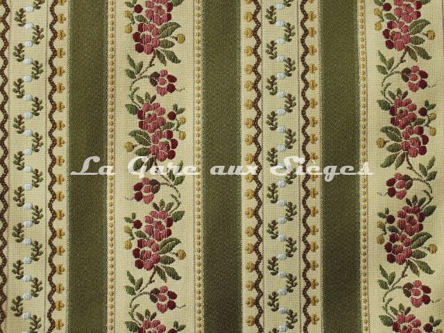 Tissu Chanée Ducrocq - Beauvais - réf: 6824 Vert - Voir en grand
