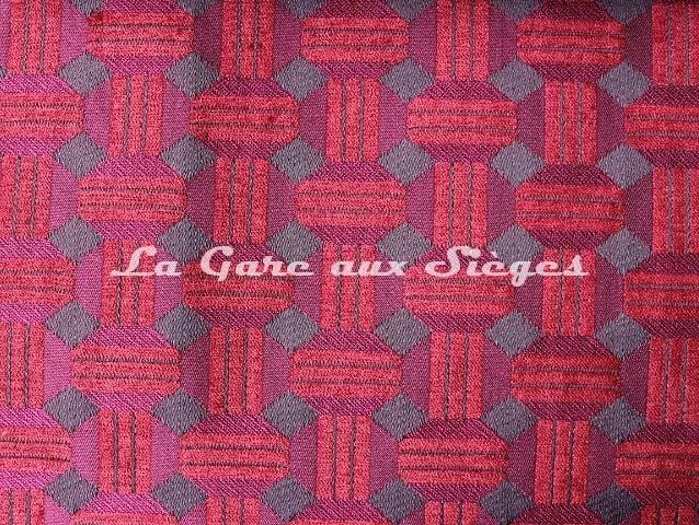 Tissu Casal - Jongleur - réf: 16187 - Coloris: 7597 Groseille Violine - Voir en grand