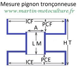 dimensions sur pignon double cloches ECHO PPK www.martin-motoculture.fr - Voir en grand