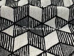 Tissu Deschemaker - Velours Bergen - réf: 103887 - Zinc - Voir en grand