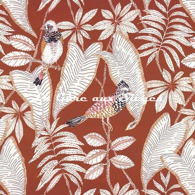 Tissu Casamance - Grand Duc - réf: 4467.0355 Orange brulée - Voir en grand