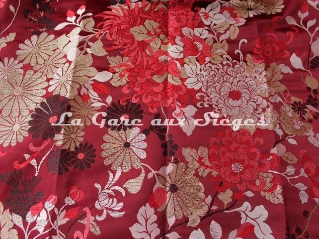 Tissu Jean Paul Gaultier - Lampas Kyoto - réf: 3466-02 Grenat - Voir en grand