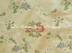 Tissu Chanée Ducrocq - Villandry - réf: 8525 Crème - Voir en grand