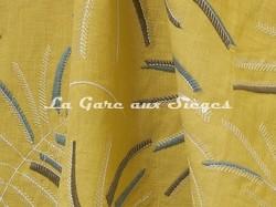Tissu Lelièvre - Mimosa - réf: 570.02 Pastis - Voir en grand