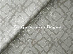 Tissu Jim Thompson - Metallic Screen Blue - réf: J3481/002 Champagne - Voir en grand