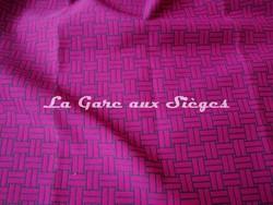 Tissu Lelièvre - Reverso - réf: 717-07 Fushia - Voir en grand