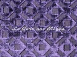 Tissu Osborne & Little - Mannar - réf: F6711-06 - coloris: Dark lavender - Voir en grand