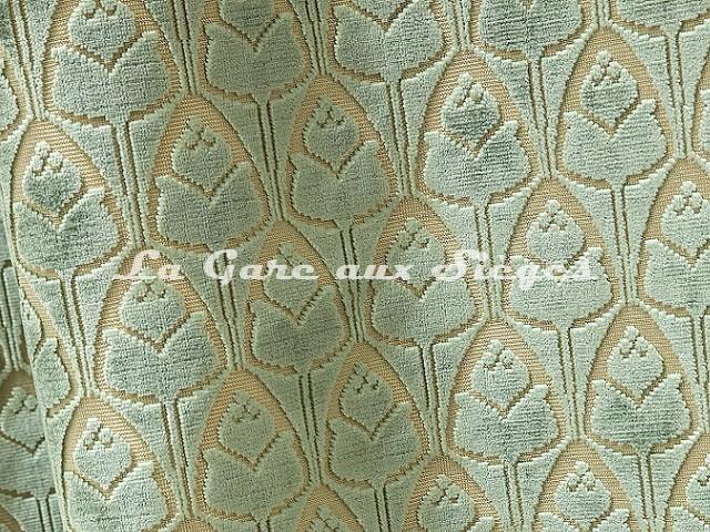 Tissu Tassinari & Châtel - Tulipe - réf: 1695.04 Jade - Voir en grand