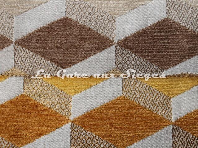 Tissu Casal - Gamma - réf: 16204 - Coloris: 73 Beiges & 40 Ambre - Voir en grand