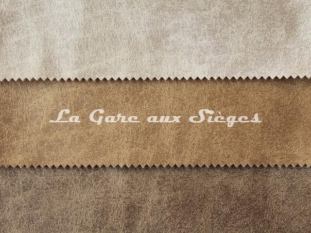 Tissu Casal - Saloon - réf: 5219 - Coloris: 720 Calcaire - 730 Antilope - 78 Pelage - Voir en grand