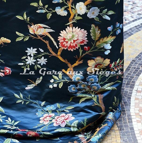 Tissu Tassinari & Châtel - Lampas Jardin d'hiver - réf: 1696-01 - Voir en grand