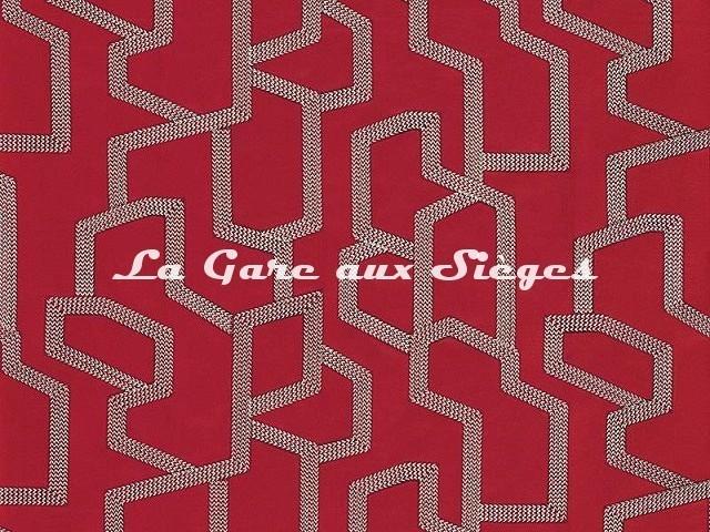 Tissu Camengo - Elite - réf: 4190.0790 Rouge - Voir en grand