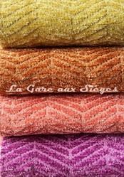 Tissu Casal - Acrobate - réf: 16184 - Coloris: 30 Genêt - 25 Cuivré - 90 Saumon - 96 Améthyste - Voir en grand