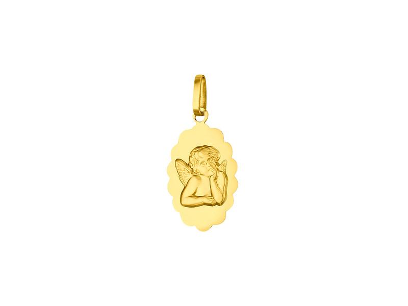 Médaille Ange fantaisie16 mm Or Jaune 18k 0.85 grs 169 ¤ - Voir en grand