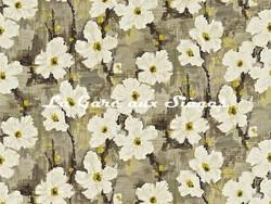 Tissu Harlequin - Giverny - réf: 120145 Charcoal/Lime - Voir en grand