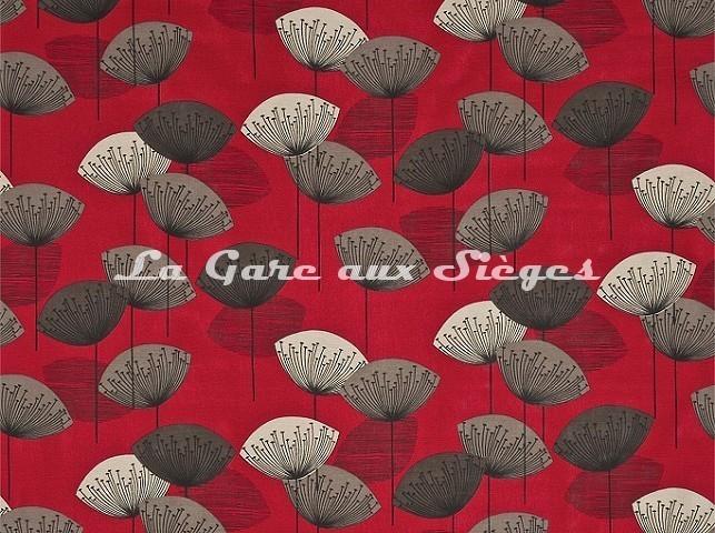 Tissu Sanderson - Dandelion Clocks - réf: DOPNDA201 Red - Voir en grand