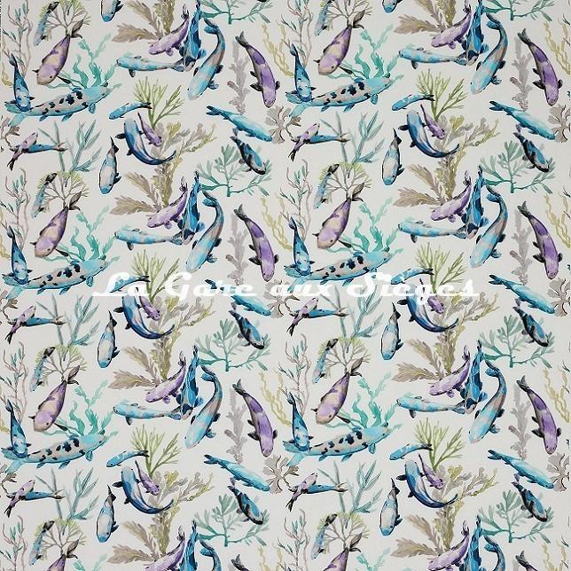 Tissu Manuel Canovas - Salina - réf: O4910.02 Turquoise - Voir en grand
