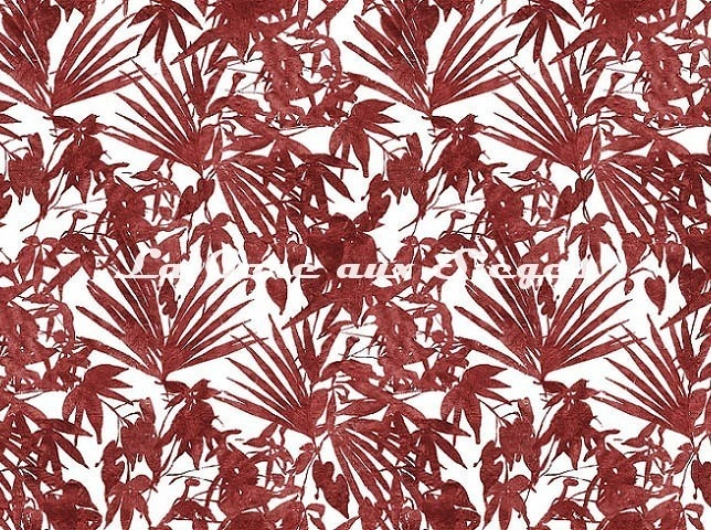 Tissu Rubelli - Home Jungle - réf: 30409.004 Rubino - Voir en grand