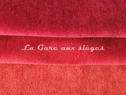 Tissu Chanée Ducrocq - Alpaga - Coloris: 2802 Rubis - 2797 Piment - 2840 Coq de roche