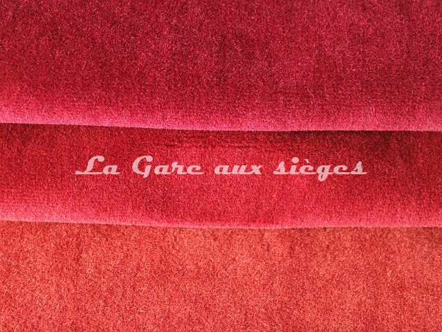 Tissu Chanée Ducrocq - Alpaga - Coloris: 2802 Rubis - 2797 Piment - 2840 Coq de roche - Voir en grand