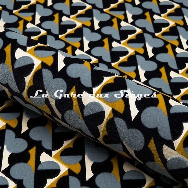 Tissu Nobilis - Velours Cerame - réf: 10751 - Coloris 65 - Voir en grand