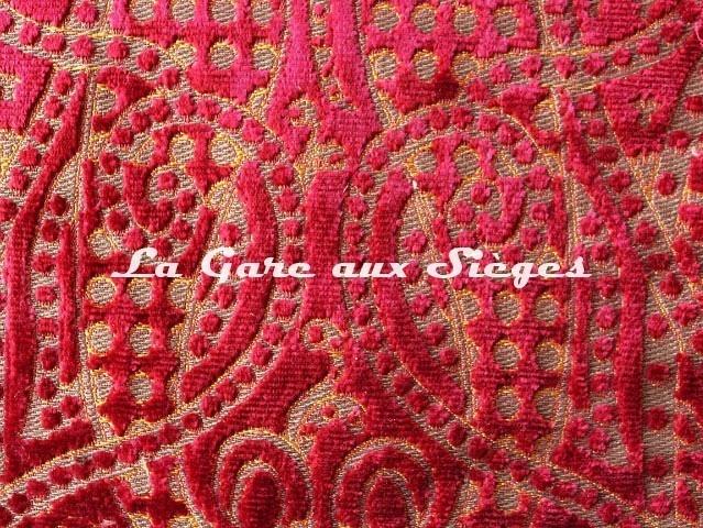 Tissu Fadini Borghi - Aurelio - réf: I6508.001 Cerise (détail) - Voir en grand