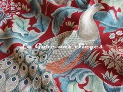 Tissu William Morris - Forest - réf: 222533 Red ( détail ) - Voir en grand