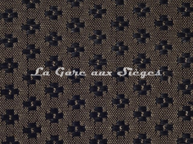Tissu Le Crin - Nircel 201 - réf: C0201 - Coloris: 046 Noir Châtaigne - Voir en grand