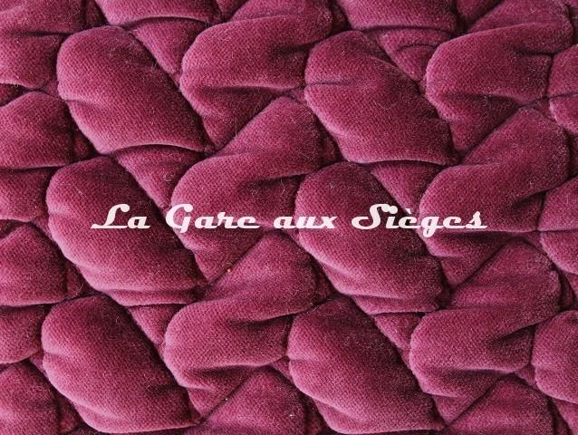 Tissu Dominique Kieffer - Velours Tresse - réf: 17229.05 Violet - Voir en grand
