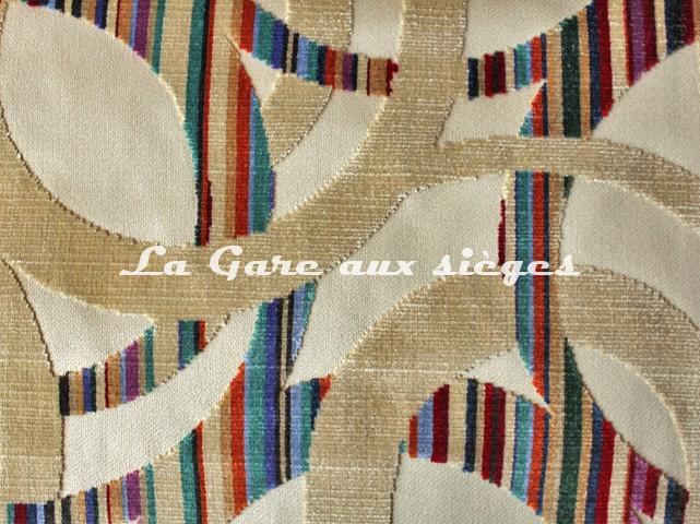 Tissu Casal - Chenonceau - réf: 12704.73 Beige ( détail ) - Voir en grand