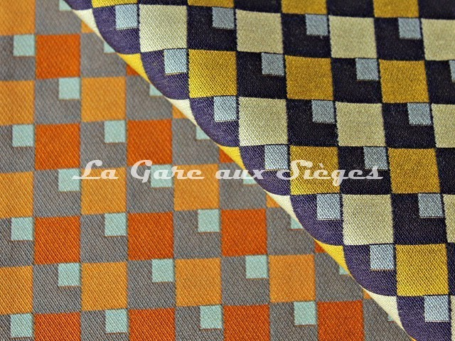 Tissu Casal - Pop - réf: 13429 - Coloris: 46 Mangue & 42 Tournesol - Voir en grand