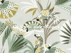 Tissu Camengo - Quetzal - réf: 4206.0164 Vert - Voir en grand