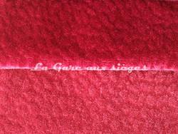 Tissu Chanée Ducrocq - Comtesse - Coloris: 2550 Scarlett - 2542 Pavot - Voir en grand