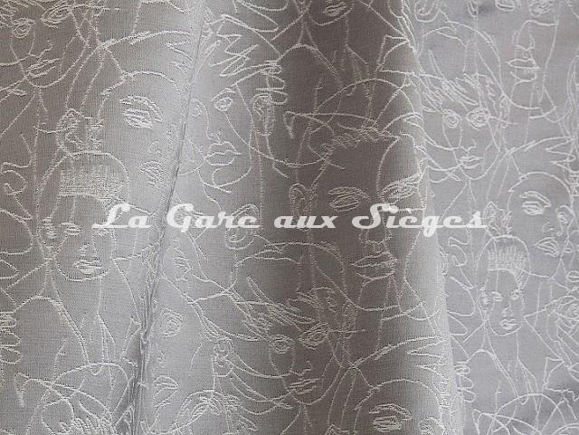 Tissu Jean Paul Gaultier - Regard - réf: 3471-03 Gris - Voir en grand