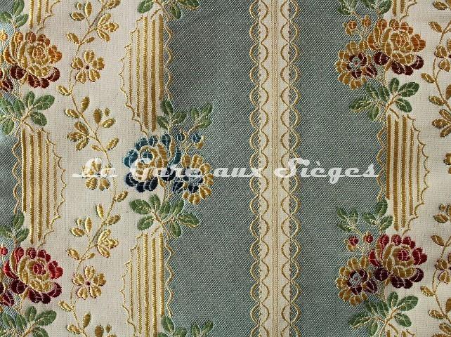 Tissu Chanée Ducrocq - Lesigny - réf: 8544 Turquoise - Voir en grand