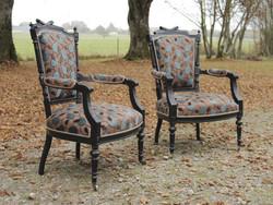 Paire de fauteuils Louis XVI - Epoque Napoléon III - Voir en grand