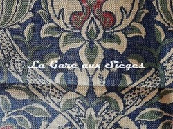 Tissu William Morris - Granada - réf: DMCOGR201 Indigo/Red ( détail ) - Voir en grand