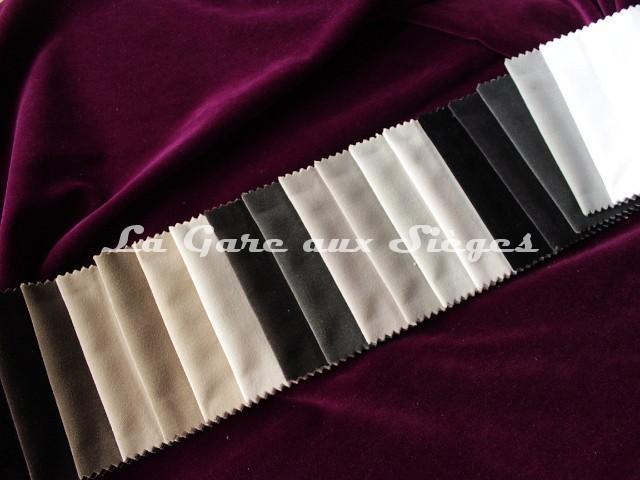 Tissu Carlucci - Velours City Velvet - réf: CA7832 - Palette de couleurs n°1 - Voir en grand