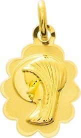 Médaille vierge or jaune 9 carats 0.55 grs 63 ¤  - Voir en grand