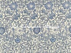 Tissu William Morris - Pink & Rose - réf: 222531 Vellum/Indigo - Voir en grand
