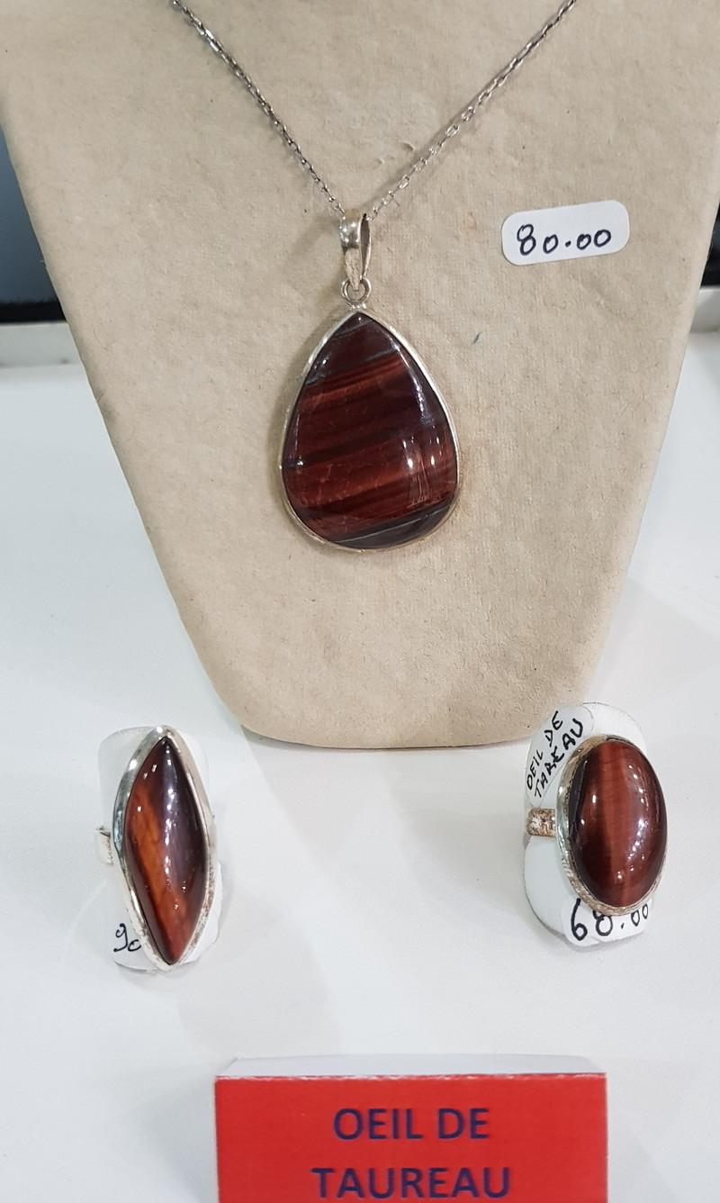 oiel de taureau - argent pierres semi précieuses - Bijoutier artisan ATELIER DB CREATION - Voir en grand