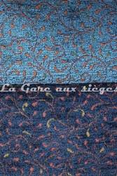 Tissu Amélie Prévot - Torcy - réf: 16103 - Coloris: 12 Bleu canard & 16 Bleu foncé - Voir en grand