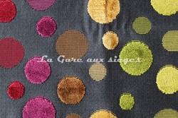 Tissu Deschemaker - Arlequin - réf: 103845 - Coloris: Réglisse - Voir en grand