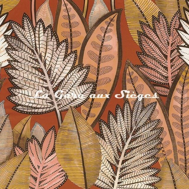 Tissu Casamance - Balata - réf: 4374.0345 Terracotta - Voir en grand