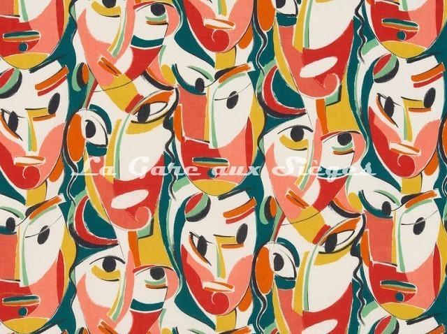 Tissu Pierre Frey - Kagura - réf: F3009-001 Tutti Frutti - Voir en grand