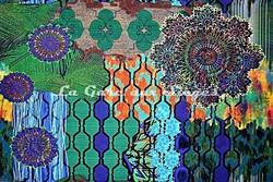 Tissu Casal - Woodstock - réf: 35001-34 Multi vert - Voir en grand
