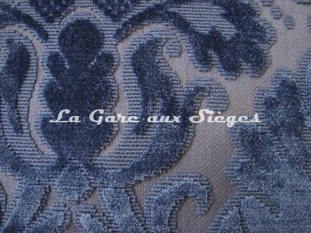 Tissu Lelièvre - Velours Chaillot - réf: 0538 - Coloris: 04 Saphir - Voir en grand