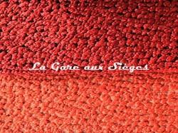 Tissu Pierre Frey - Esteban - réf: F3071 - Coloris: 010 Coquelicot & 011 Gambas - Voir en grand